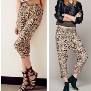 Free People twisted leopard harem pant